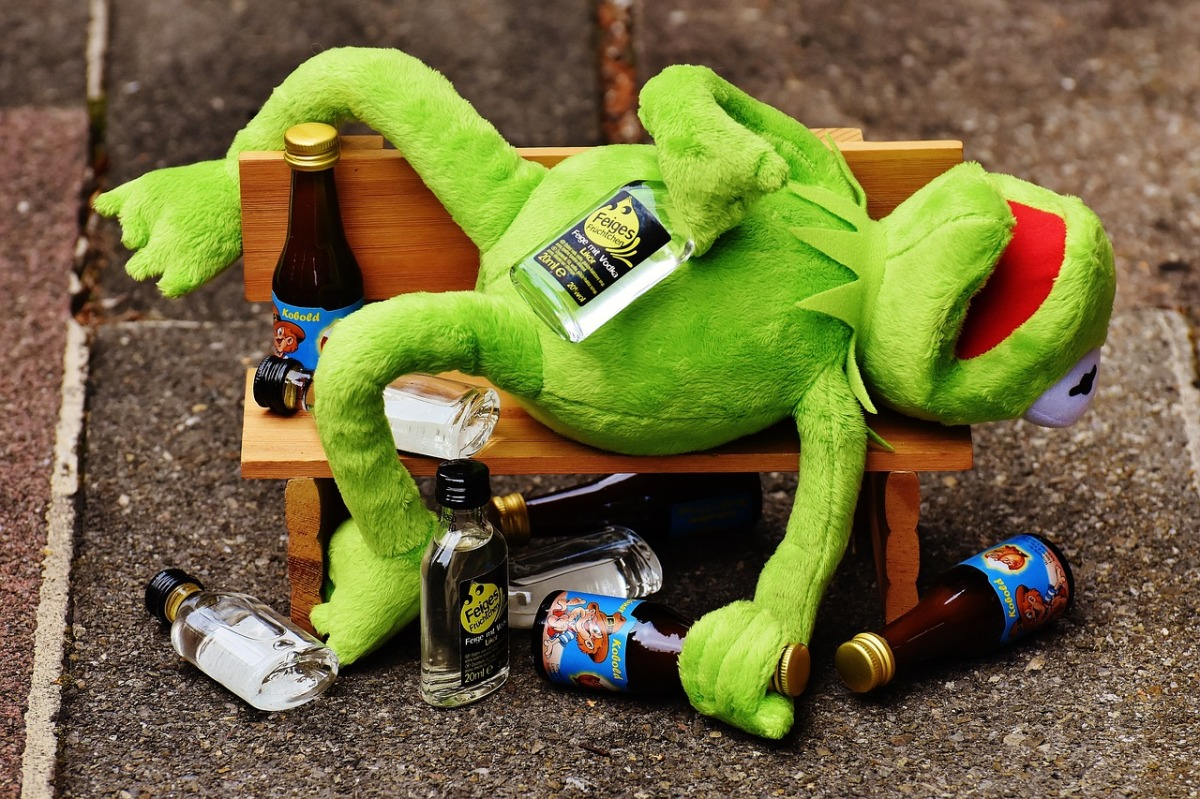 Tis the season to be jolly but don't be a muppetKermit Drinking