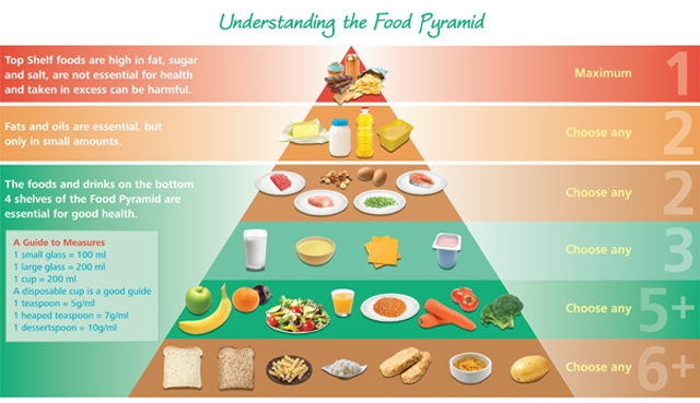 """White bread taken off the table in new """"healthy eating"""" food pyramid"""
